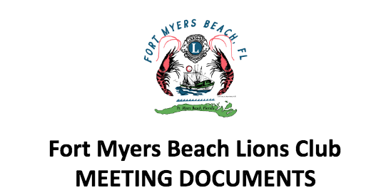 fmb lions meeting documents