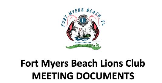 fmb lions meeting documents