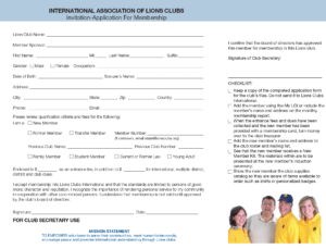 lions club application