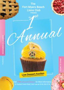 Live dessert auction flyer