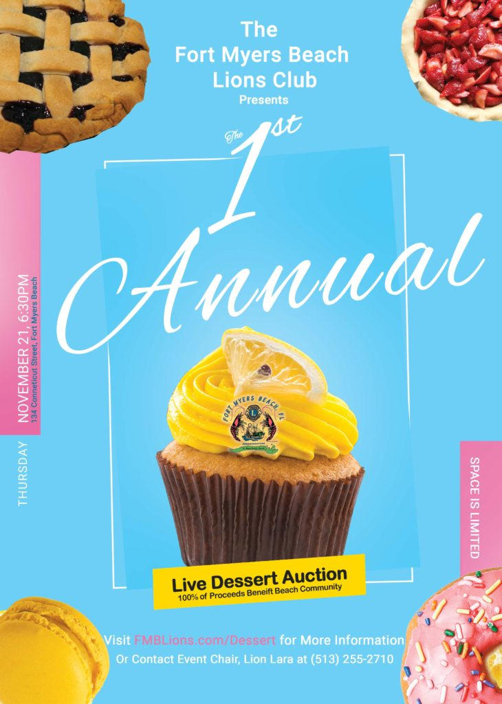 Live dessert auction flyer